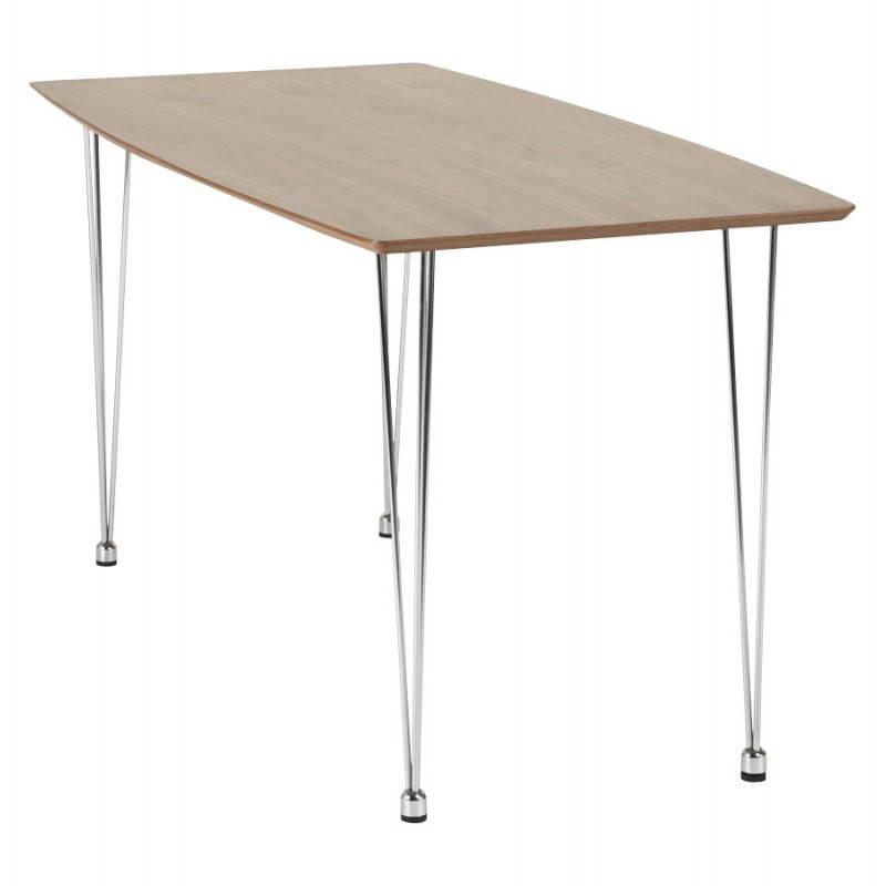 Table design rectangulaire SOPHIE en bois (140cmX70cmX72cm) (noyer) - image 21471