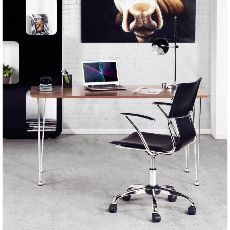 Table design rectangulaire SOPHIE en bois (140cmX70cmX72cm) (noyer) - image 21481