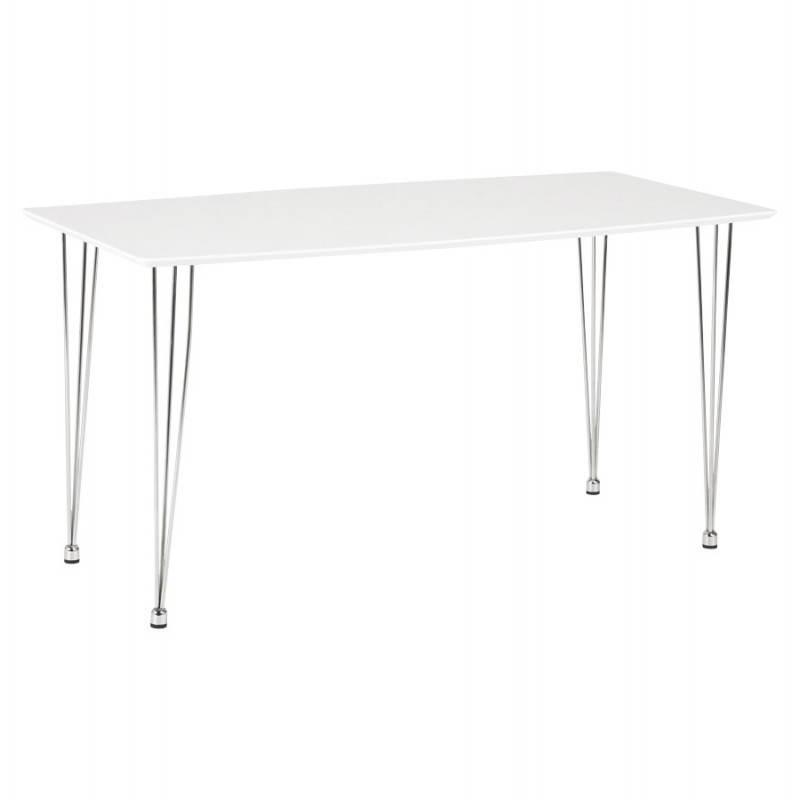 Table design rectangulaire SOPHIE en bois (140cmX70cmX72cm) (blanc) - image 21482