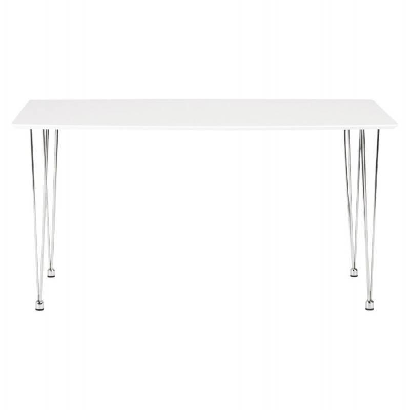 Table design rectangulaire SOPHIE en bois (140cmX70cmX72cm) (blanc) - image 21483