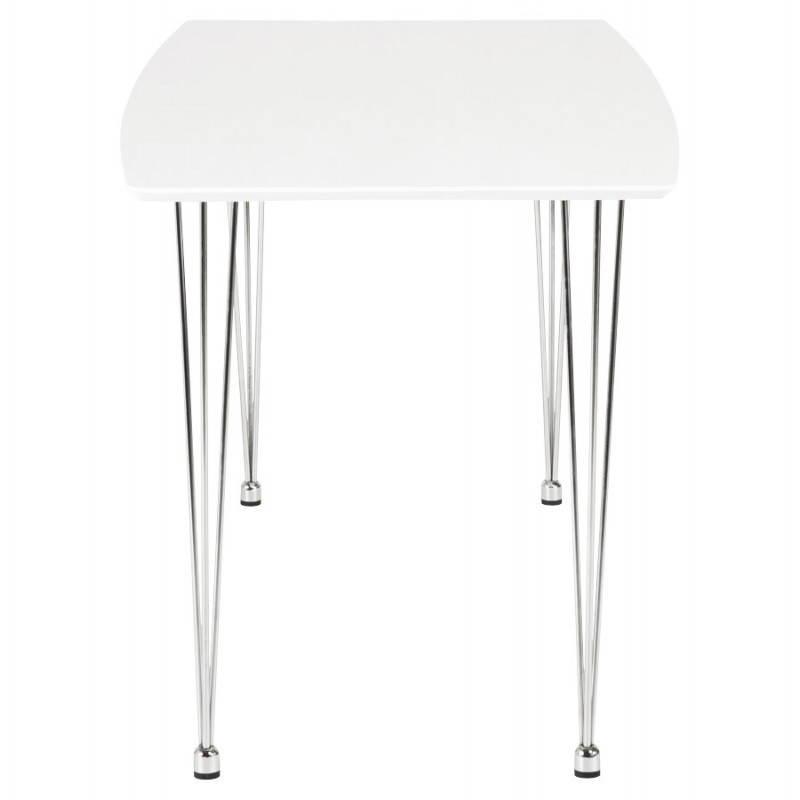 Table design rectangulaire SOPHIE en bois (140cmX70cmX72cm) (blanc) - image 21484