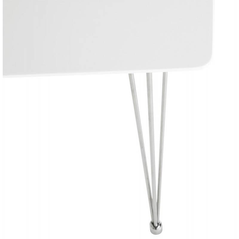 Table design rectangulaire SOPHIE en bois (140cmX70cmX72cm) (blanc) - image 21486