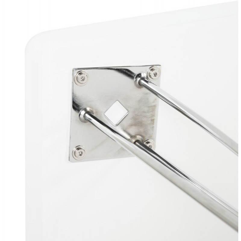 Table design rectangulaire SOPHIE en bois (140cmX70cmX72cm) (blanc) - image 21488