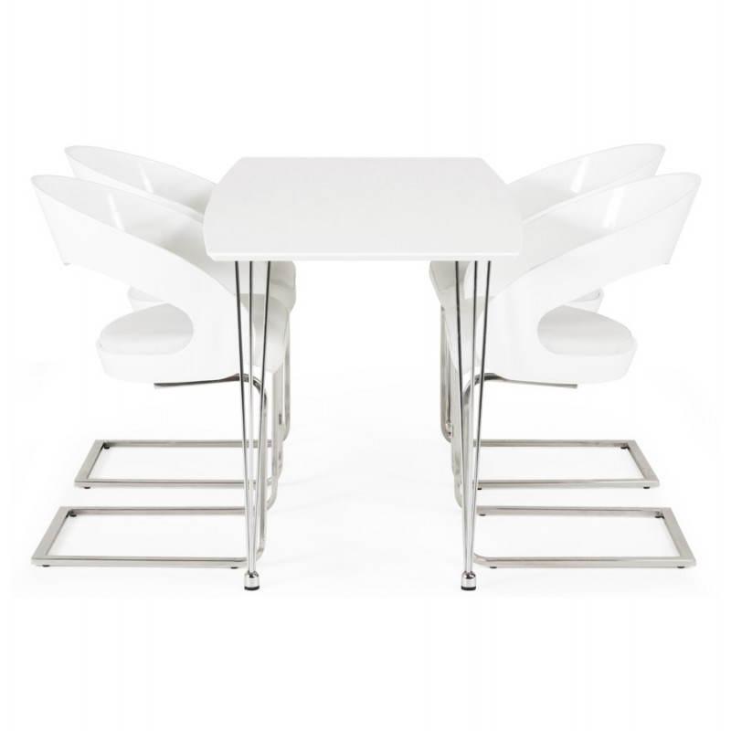 Table design rectangulaire SOPHIE en bois (140cmX70cmX72cm) (blanc) - image 21493
