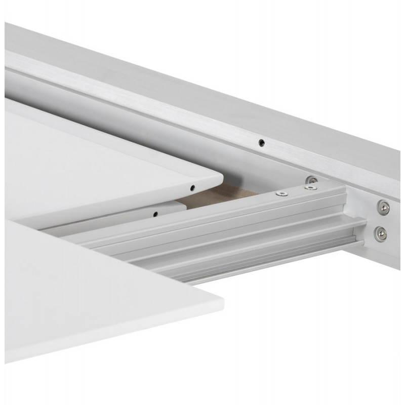 Table design avec rallonge FIONA en bois laqué et aluminium brossé (190/270cmX95cmX75cm) (blanc) - image 21535