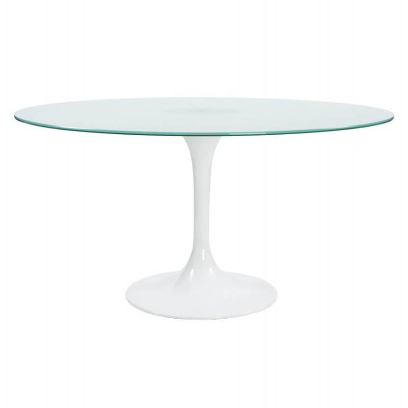 Design-Roundtable Suma in gehärtetem Glas und Glasfaser (Ø 140 cm) (Sand) - image 21541