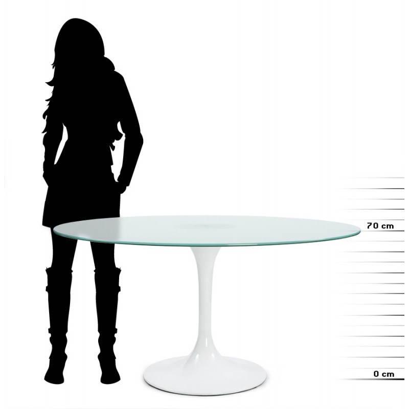 Design-Roundtable Suma in gehärtetem Glas und Glasfaser (Ø 140 cm) (Sand) - image 21547