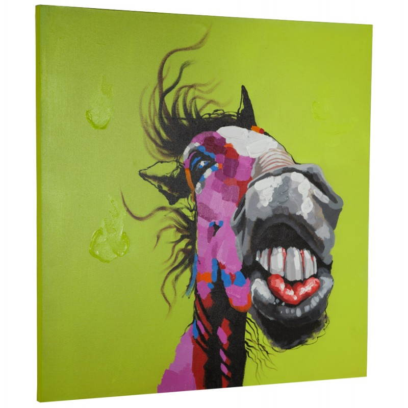 Decorative canvas horse