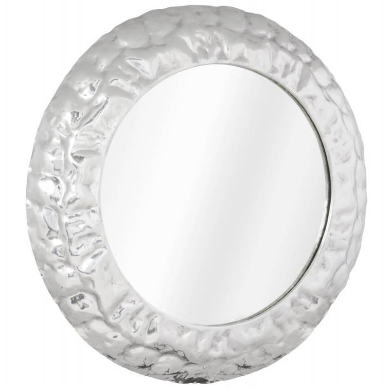Specchio da parete rotondo in alluminio BELLA