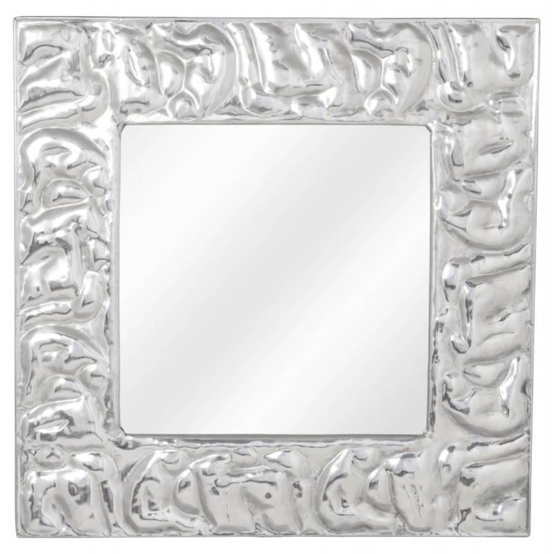 Square wall mirror BELLISSIMA aluminium  - image 21774