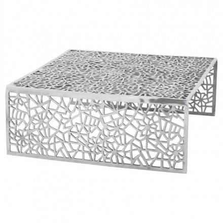 Mesa de centro cuadrada dama en aluminio