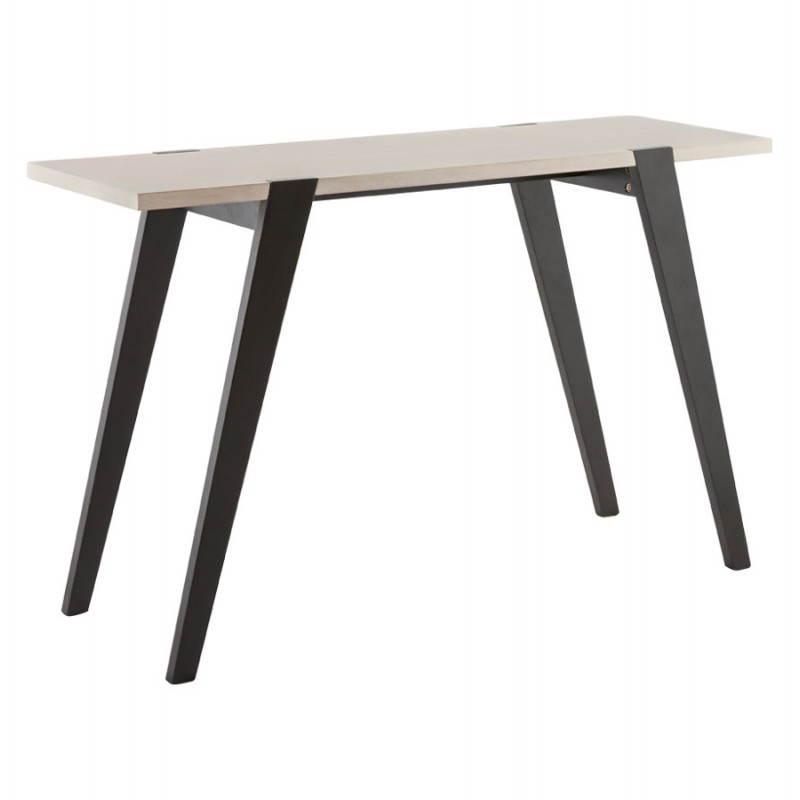 Table moderne rectangulaire VANOU en plaqué chêne (120cmX75,5cmX40cm) (naturel)