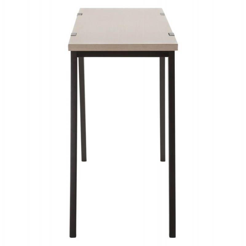 Table moderne rectangulaire VANOU en plaqué chêne (120cmX75,5cmX40cm) (naturel) - image 21792