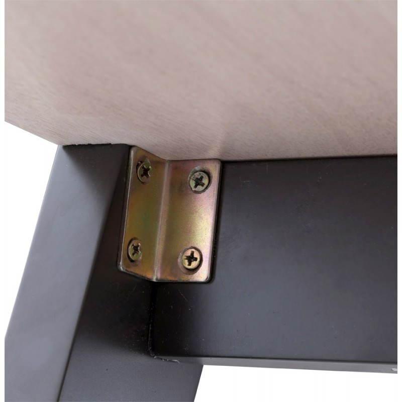 Table moderne rectangulaire VANOU en plaqué chêne (120cmX75,5cmX40cm) (naturel) - image 21793