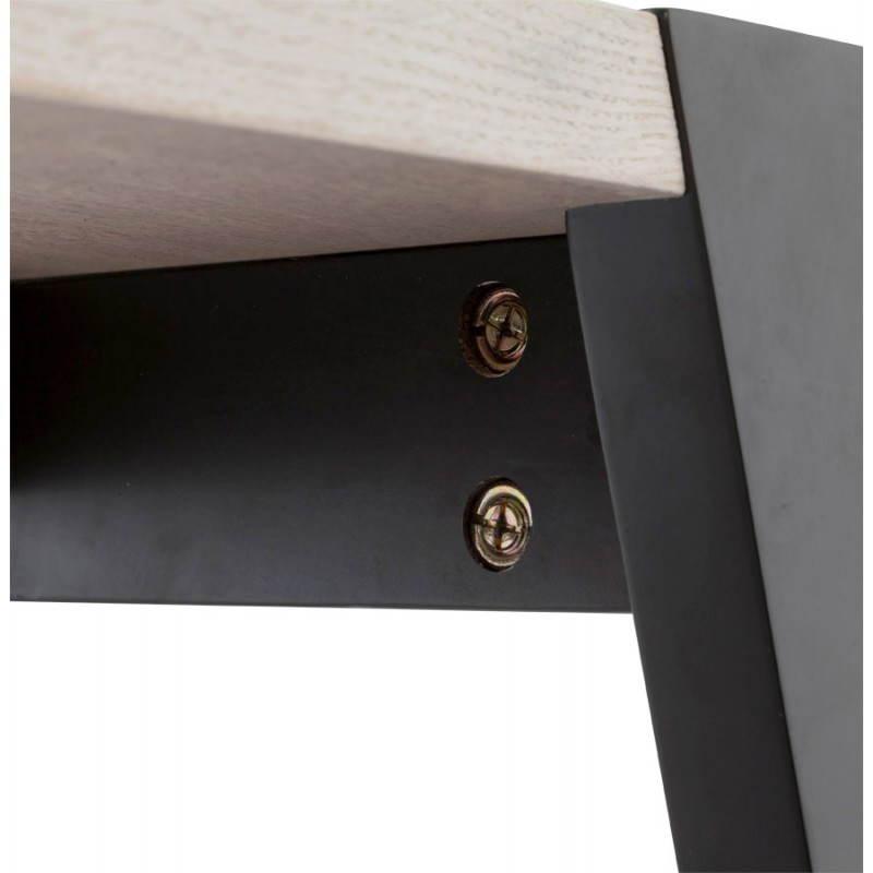 Table moderne rectangulaire VANOU en plaqué chêne (120cmX75,5cmX40cm) (naturel) - image 21794