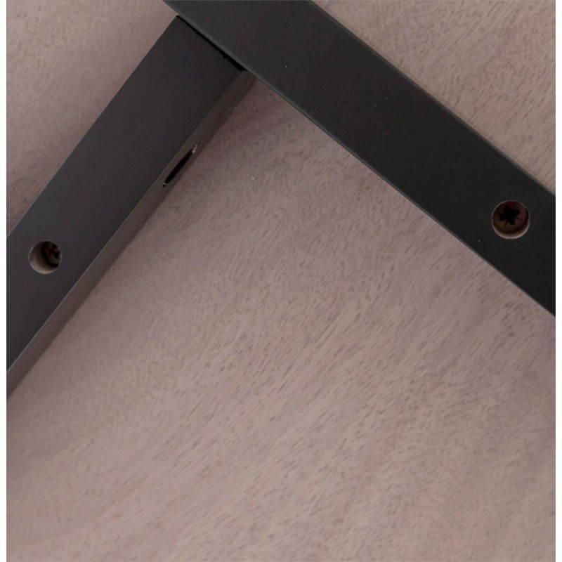 Table moderne rectangulaire VANOU en plaqué chêne (120cmX75,5cmX40cm) (naturel) - image 21795