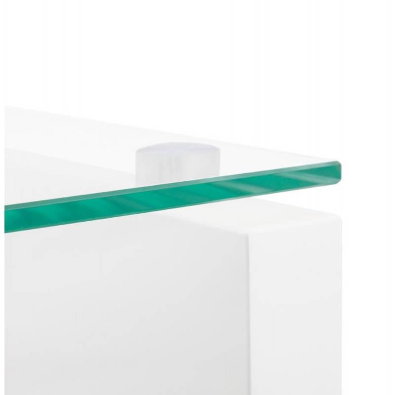 Muebles TV OUVÉA en madera lacada y de cristal (blanco) - image 21918