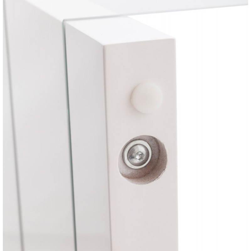 Muebles TV OUVÉA en madera lacada y de cristal (blanco) - image 21921