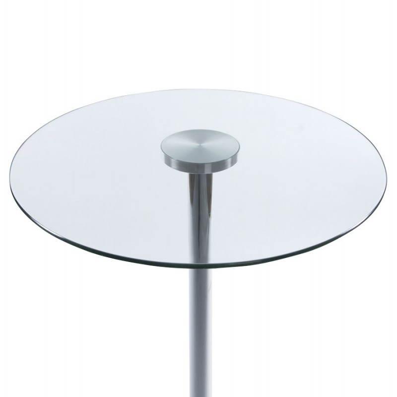 alta bary transparente cromado metal y vidrio mesa 65 cm. Black Bedroom Furniture Sets. Home Design Ideas