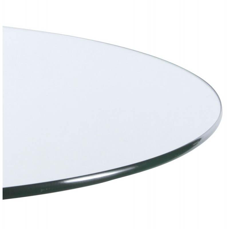 Table haute d'appoint BARY en verre et métal chromé (Ø 65 cm) (transparent) - image 22076