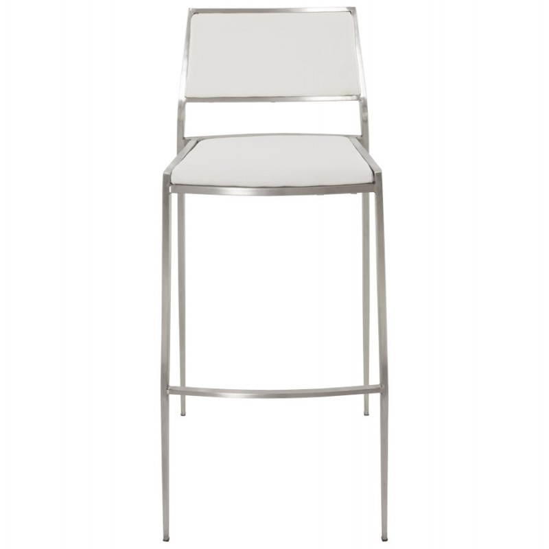 Tabouret de bar design et empilable SABRY (blanc) - image 22095