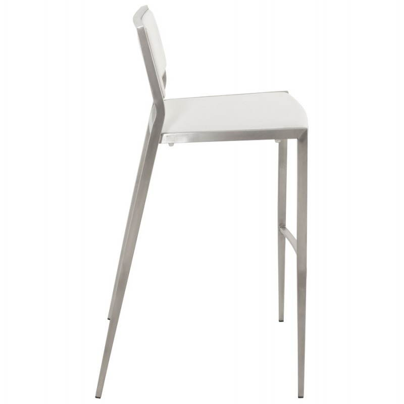 Tabouret de bar design et empilable SABRY (blanc) - image 22096