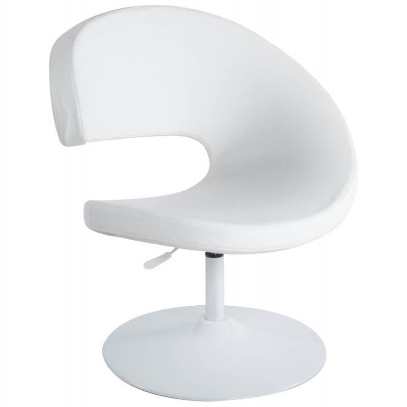 Fauteuil design et contemporain ROMANE en polyuréthane et acier peint (blanc) - image 22161