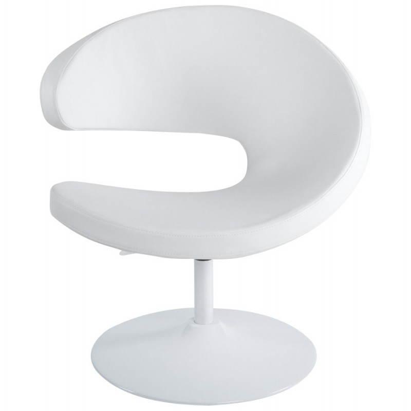 Fauteuil design et contemporain ROMANE en polyuréthane et acier peint (blanc) - image 22162