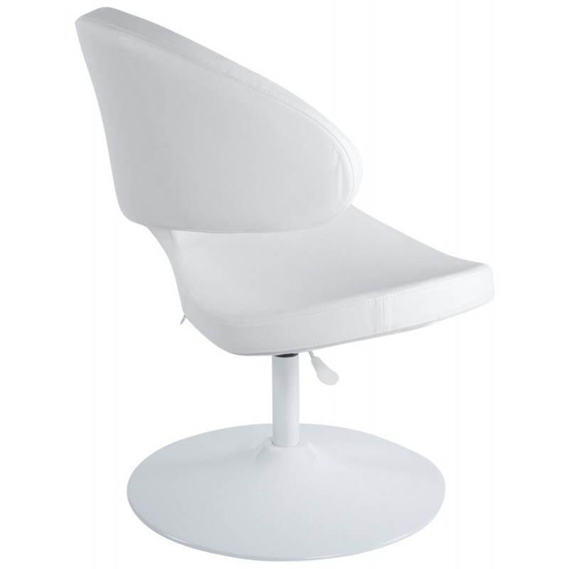 Fauteuil design et contemporain ROMANE en polyuréthane et acier peint (blanc) - image 22163