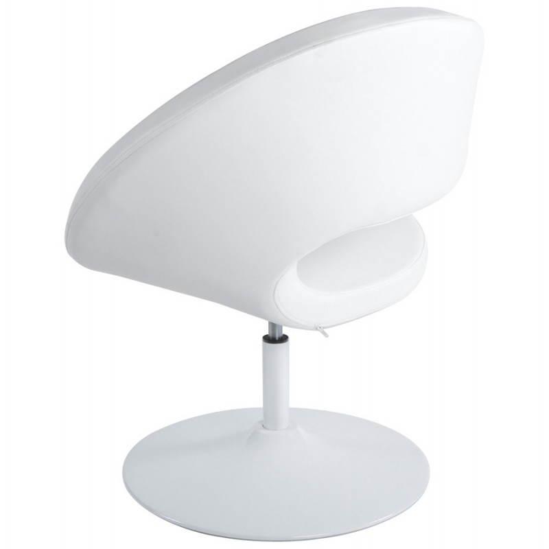 Fauteuil design et contemporain ROMANE en polyuréthane et acier peint (blanc) - image 22164