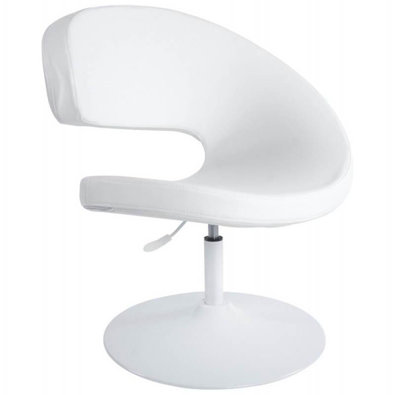 Fauteuil design et contemporain ROMANE en polyuréthane et acier peint (blanc) - image 22165