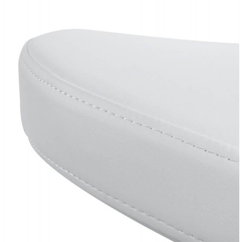 Fauteuil design et contemporain ROMANE en polyuréthane et acier peint (blanc) - image 22167