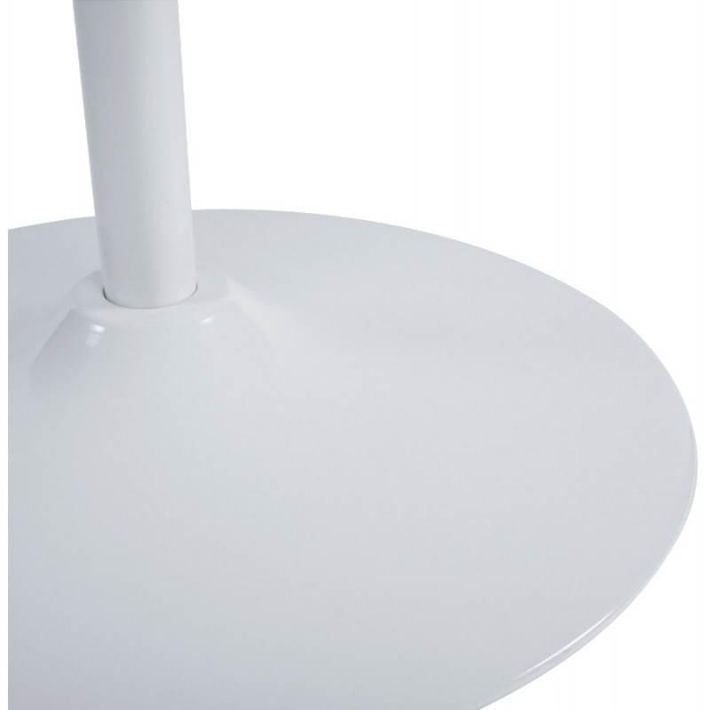 Fauteuil design et contemporain ROMANE en polyuréthane et acier peint (blanc) - image 22169