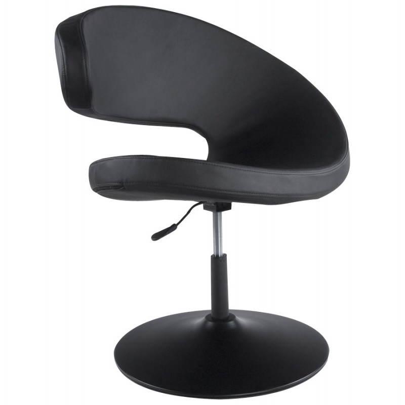 Fauteuil design et contemporain ROMANE en polyuréthane et acier peint (noir) - image 22176