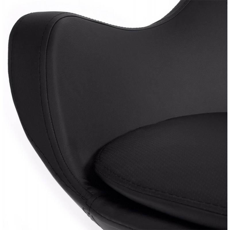 Fauteuil design et contemporain AMOUR en synthétique et aluminium brossé (noir) - image 22195