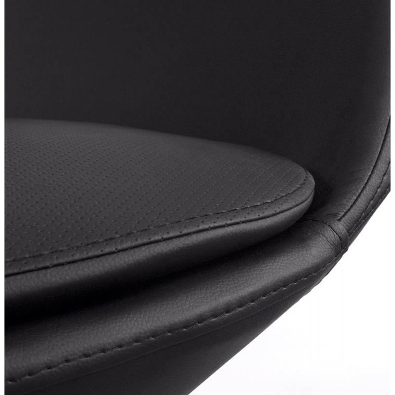 Fauteuil design et contemporain AMOUR en synthétique et aluminium brossé (noir) - image 22197