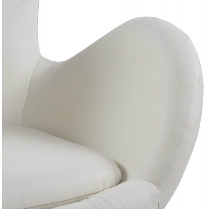 Fauteuil design et contemporain JAMES pivotant (crème) - image 22202