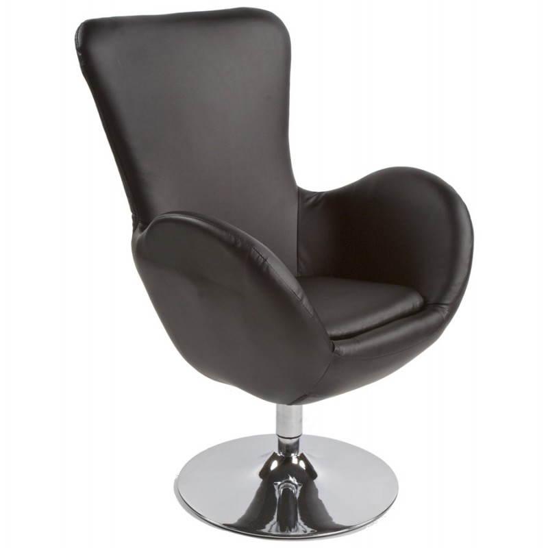 Fauteuil design et contemporain JAMES pivotant (noir) - image 22205