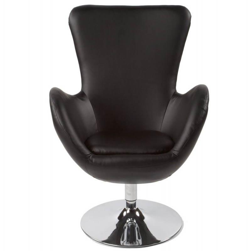 Fauteuil design et contemporain JAMES pivotant (noir) - image 22206