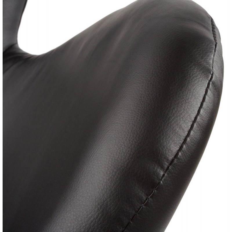 Fauteuil design et contemporain JAMES pivotant (noir) - image 22208