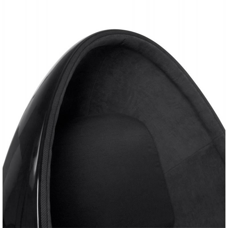 Fauteuil design OVALO en polymère et tissu (noir) - image 22232