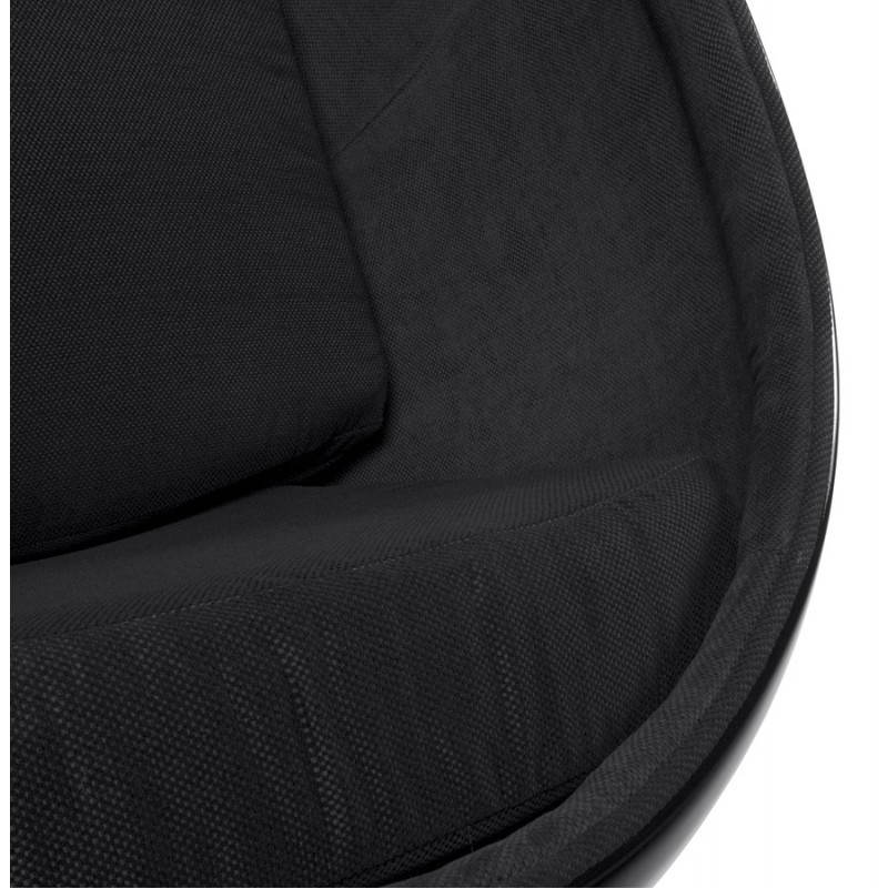 Fauteuil design OVALO en polymère et tissu (noir) - image 22233
