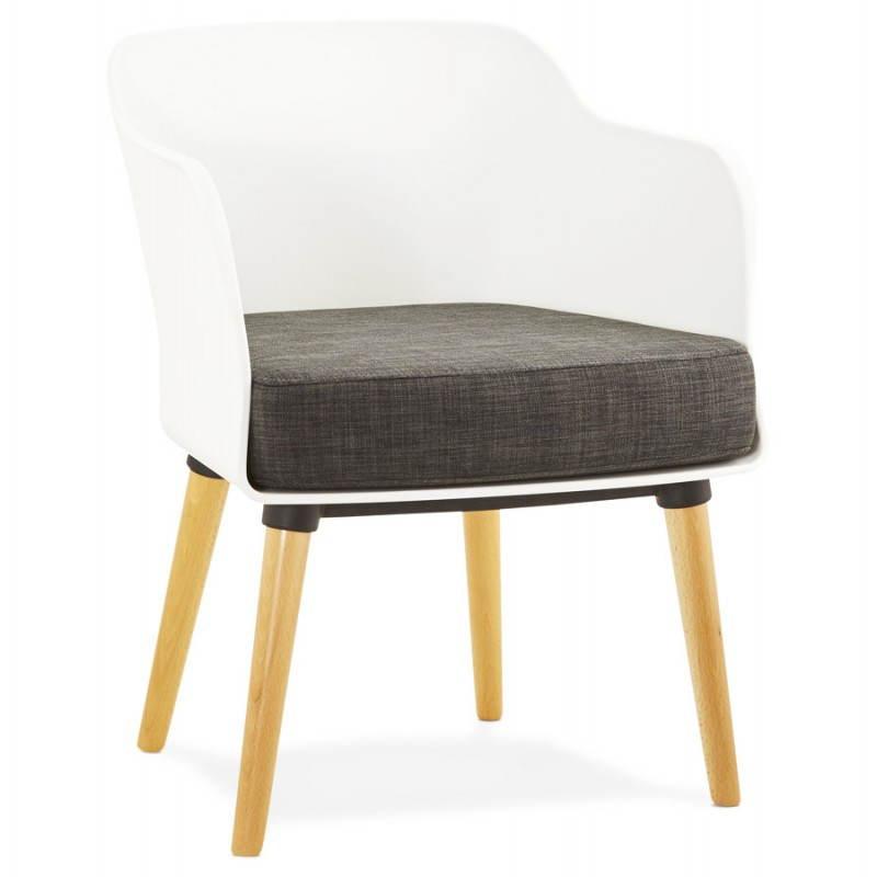 Textile Sessel MAXIME Stil Skandinavisch (dunkelgrau)
