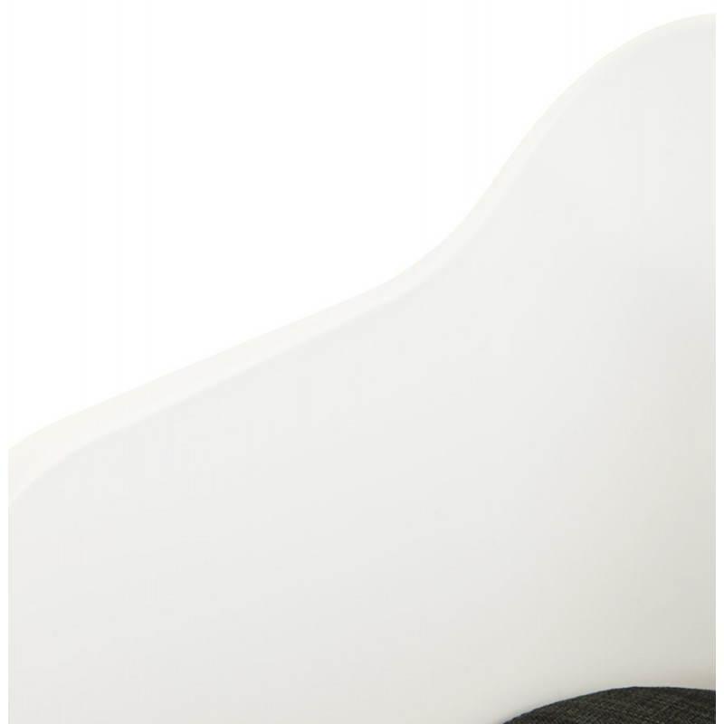 Fauteuil MAXIME en textile style scandinave (gris foncé) - image 22278
