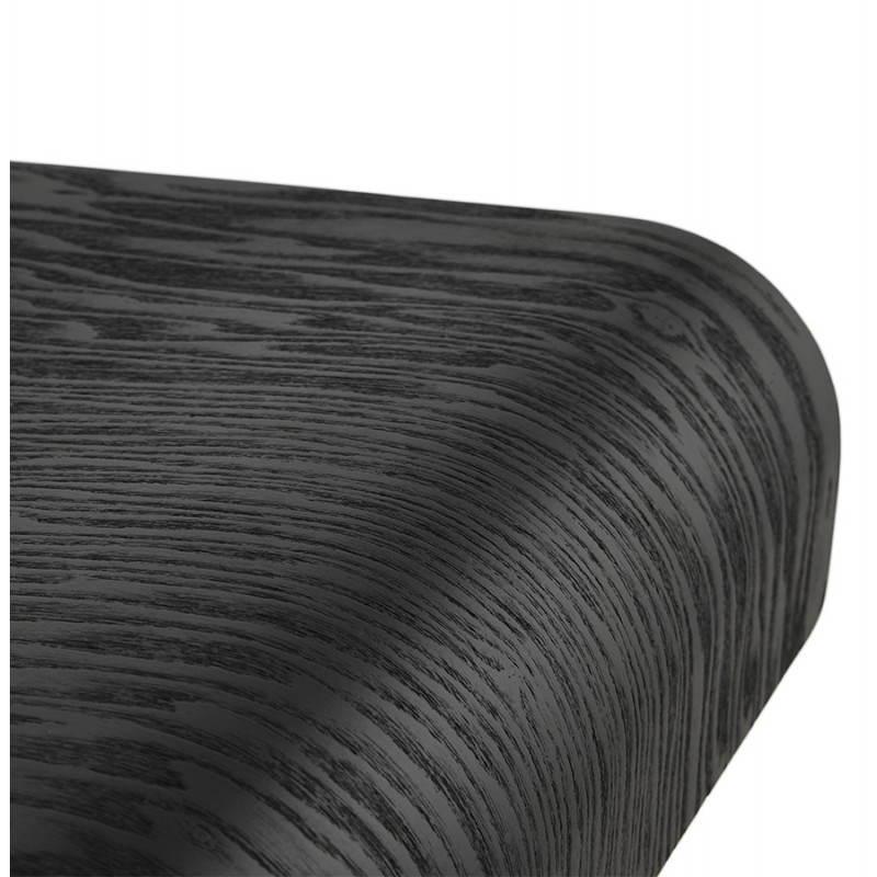 Design-Bar in Holz und Metall Hocker verchromt. Holz (schwarz) Öfen - image 22293