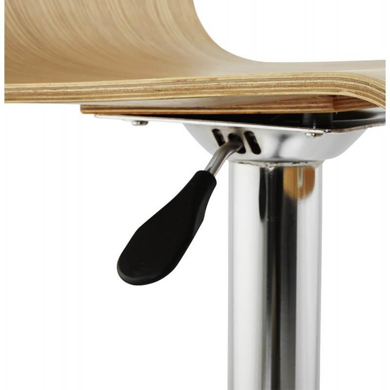 Tabouret de bar design FOURS en bois (naturel) - image 22310