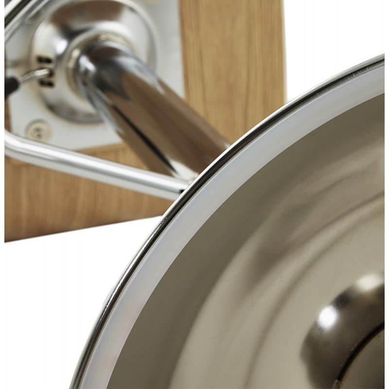 Tabouret de bar design FOURS en bois (naturel) - image 22317