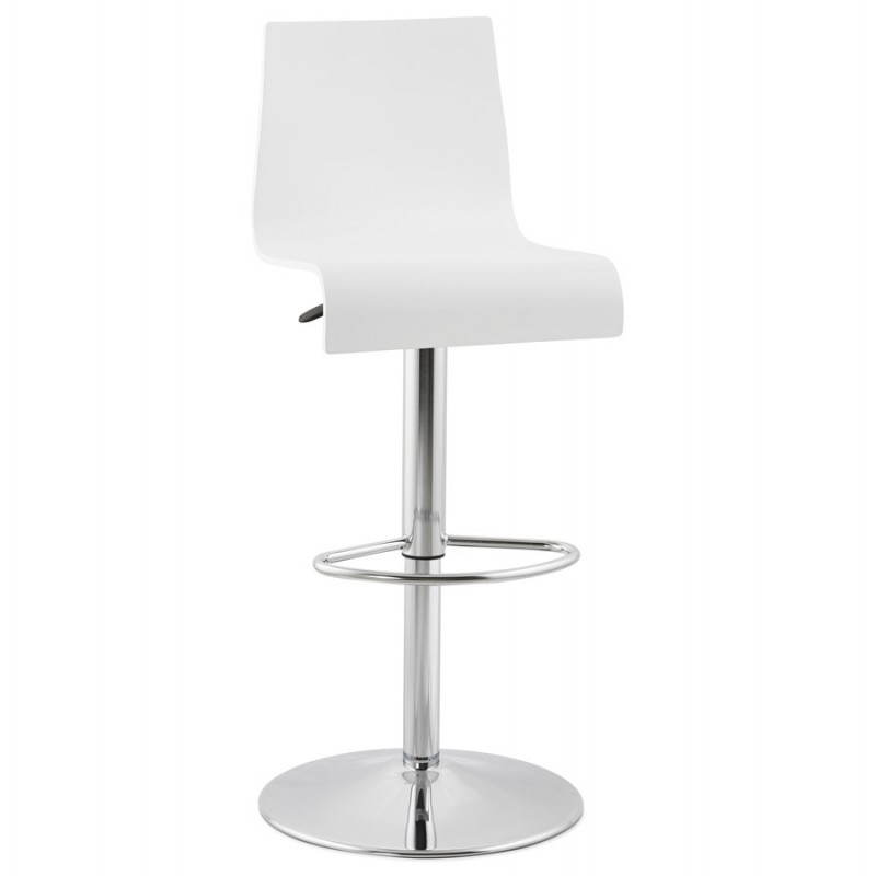 Design bar Venice (white) wooden stool