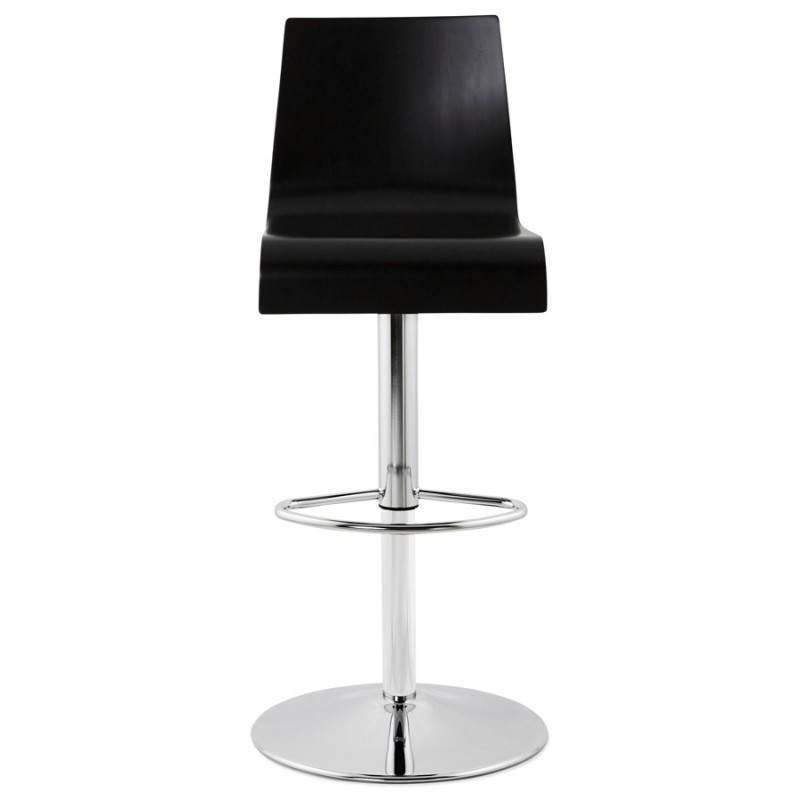 Tabouret de bar design VENISE en bois (noir) - image 22335