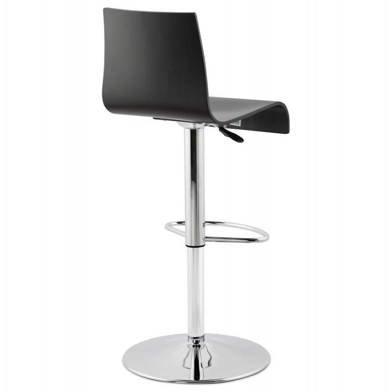 Venice design bar (black) wooden stool - image 22337